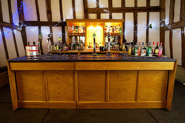 External Bar in Barn at Prestiege Bars